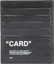 Quote Leather Card Holder