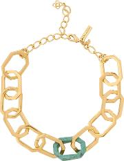 Octagonal Chain Link Necklace