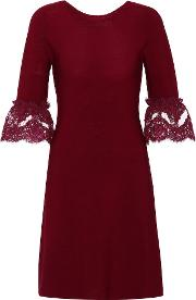 Wool Lace Trimmed Dress