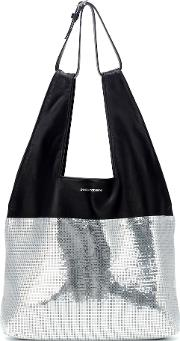 Section Belted Shopper Leather Tote