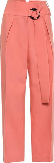Hayes High Rise Wool And Silk Pants