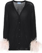 Exclusive To Mytheresa.com Feather Trimmed Wool Cardigan