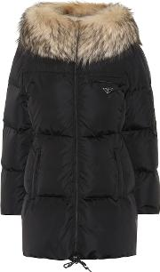 Fur Trimmed Quilted Down Jacket