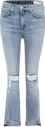 10 Inch Stove Pipe Cropped Jeans