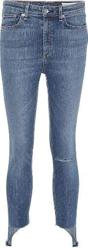 Nina High Rise Ankle Skinny Jeans