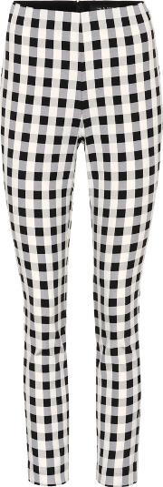 Simone Plaid Cropped Trousers