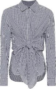 Wendy Gingham Cotton Blouse