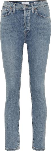 Cropped High Rise Skinny Jeans