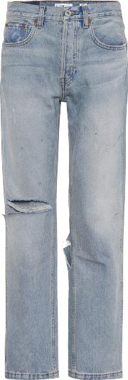 Grunge Straight Distressed Jeans