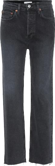 Stovepipe High Rise Straight Jeans