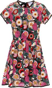 Floral Embroidered Minidress