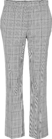 Plaid Virgin Wool Pants