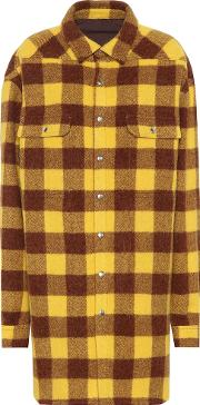 Checked Alpaca And Wool Coat