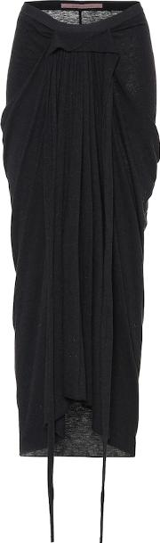 Lilies Draped Knit Skirt