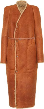 Shearling Lined Suede Coat