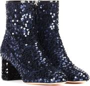 Sequinned Ankle Boots