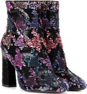 Bootie Chunky Sequin Embellished Ankle Boots
