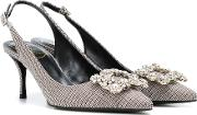 Exclusive To Mytheresa Flower Strass Slingback Pumps