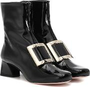 Tres Vivier Leather Ankle Boots