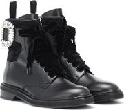Viv' Rangers Strass Leather Boots