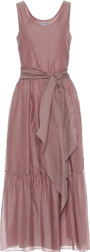 Manche Cotton And Silk Voile Dress