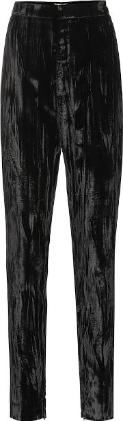 High Rise Skinny Velvet Pants