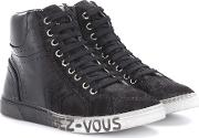 Joe Leather And Suede Sneakers