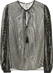 Metallic Silk Blouse