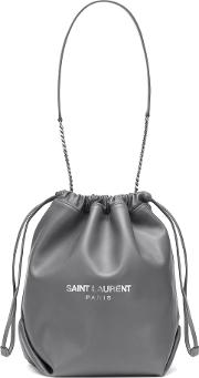 Teddy Leather Bucket Bag