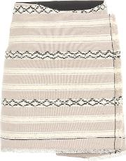 Wool And Cotton Wrap Skirt