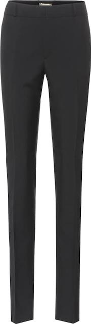 Wool Mid Rise Trousers