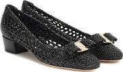 Vara Woven Leather Pumps