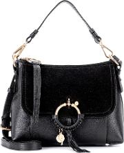Joan Small Leather And Suede Crossbody Bag