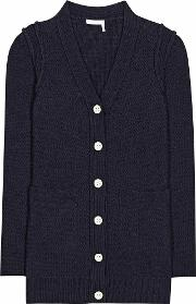 Stretch Cotton Cardigan