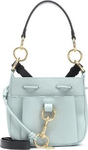 Tony Mini Leather Bucket Bag