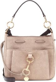 Tony Small Leather Bucket Bag