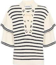 Striped Cotton And Wool Sweater