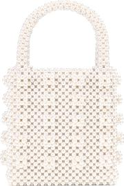 Faux Pearl Tote