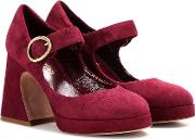 Millie Suede Mary Jane Pumps