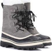 Caribou Leather And Rubber Boots
