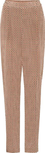 Cicely Printed Silk Trousers