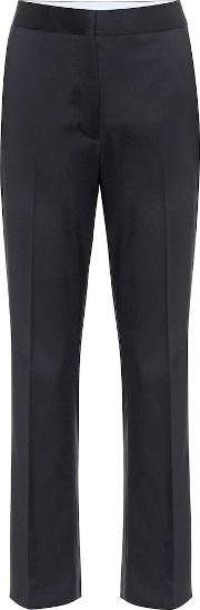 Mid Rise Straight Wool Pants