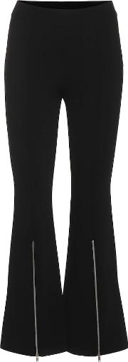Ponte High Rise Cropped Flare Pants