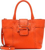 Double T Small Leather Shoulder Bag