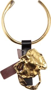 Gold Plated Necklace With Leather