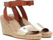 Bima Leather Wedge Espadrilles