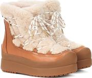 Courtney 60mm Shearling Ankle Boots