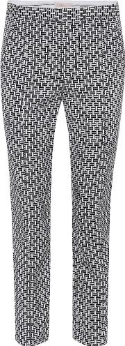 Cropped Block Jacquard Trousers