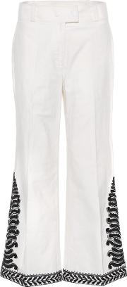 Embroidered Cotton Trousers