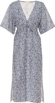 Floral Cotton And Silk Dress